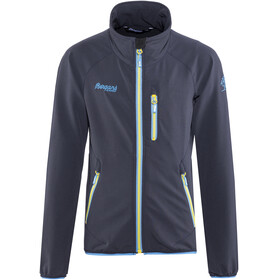 Bergans Kjerag Jacket Youth Navy/Light Winter Sky/Yellowgreen
